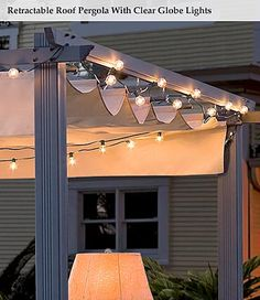 awning with lights